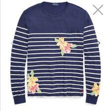 Designer Ralph Lauren Custom Slim Fit Cotton  Long Sleeves T-Shirt Top Large NEW