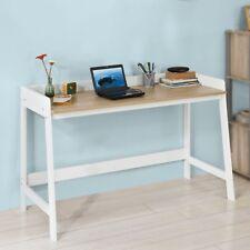 SoBuy Mesa de escritorio Mesa de Ordenador con un Estante Blanco FWT41-WN,ES