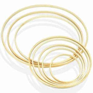 10-30cm Bamboo Floral Hoop Wreath Wooden Hanging Circle Wedding Party Decor C9C