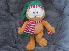 TY Beanie Buddie Christmas Garfield  - Retired WMT