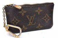 Auth Louis Vuitton Monogram Pochette Cles Coin Case M62650 LV A1436