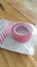 "Queen & Co Washi Trendy Tape! ""Diagonal Stripe Pink"" 10 yards each roll!"