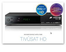 DECODER SATELLITARE  DIGITALE DIGIQUEST TIVUSAT HD COMPLETO SMARTCARD TIVUSAT HD
