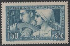"FRANCE STAMP TIMBRE N° 252c ""CA. LE TRAVAIL 1928 BLEU-VERT TYPE III"" NEUFxx TTB"