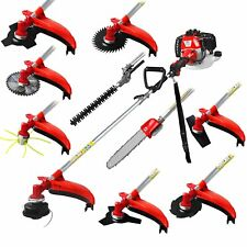 52CC 2-strokes 10 in 1 Multi brush cutter grass trimmer lawn mower tree pruner