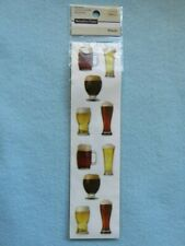 20 Cool STICKERS ~ BEER Lovers & Glasses ~ Recollections Themed Collectibles