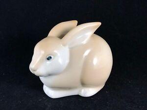 Vintage Porcelain Brown Rabbit Bunny Springtime Retro Figurine Sculpture