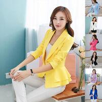 Women One Button Slim Casual Business Blazer Suit Jacket Coat Outwear Beautiful