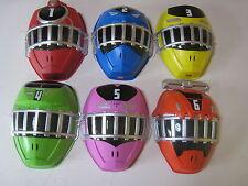 Japanese Power Rangers Ressha Sentai ToQger play mask set of 6 wall decor Japan