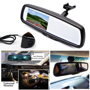"4.3"" Auto Dimming TFT LCD Rear View Mirror Monitor w/ Rear Camera Night vision"