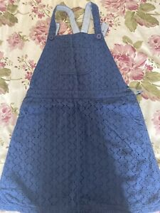 Boden/Johnnie B Blue Dungaree Dress Age 13-14 Years