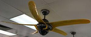 """Vento Uragano 54"""" indoor fan yellow blades and gun metal body"""