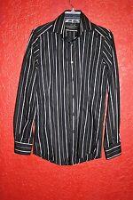 ZARA para hombre B falta rayas con botones Camisa de manga larga talla S