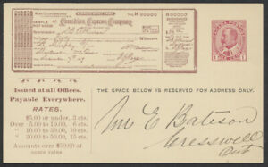 1909 #CEX-25 1c Edward Canadian Express Card Used At Manilla Ont Shipment Notice