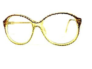 NINA RICCI Frames Glasses Vintage Retro France Woman Glitter