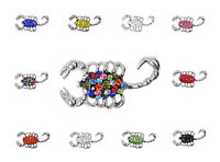 Clay Rhinestone Scorpions Charm Chunk Snap Button for Noosa Bracelet Necklace