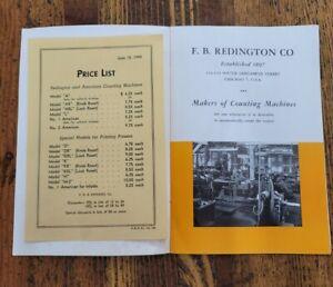Vintage Tools Redington Counting Machine Catalog Sales Manual 1944 Hand Counters