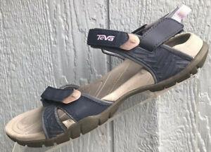 Teva Tirra Blue Pink Sport Hiking Walking Water Sandals Size US 8 Womens