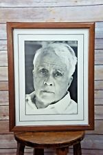 Vintage LOTTE JACOBI Signed Black/White Photo Print ROBERT FROST 8.5 x 12 Matted