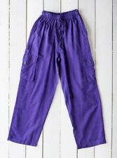 GRINGO fairtrade NEPALESE cotton CARGO TROUSERS baggy COMBATS hippy PANTS PURPLE