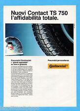 QUATTROR990-PUBBLICITA'/ADVERTISING-1990- CONTINENTAL CONTACT TS 750 PNEUMATICI