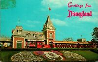 Vtg 1960s Disneyland Postcard - Greetings From Disneyland Floral Entrance 1-264