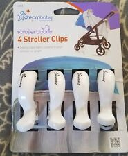 Dreambaby Stroller Clips, 4 Pack, White