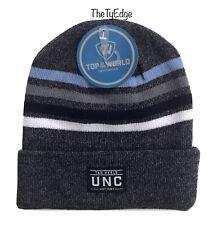 1X Top Of The World Dark Gray/Black UNC Tar Heels Knit Beanie Toboggan Hat