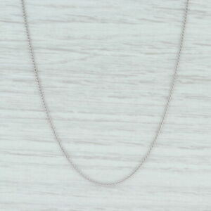"New Round Wheat Chain Necklace 950 Platinum 16"" 1mm Lobster Clasp"