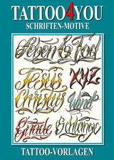 Tattoo Lettering Tattoo4you Schriften Motive Script Vorlagen Buch Flashbook