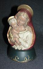 Keramik -Maria mit Kind- bunt gefasst 60/70er Jahre