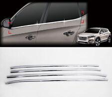Chrome Window Accent Garnish Molding Trim Line Sill 4p For 2016 Hyundai Tucson