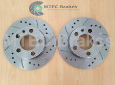 Seat Ibiza Rear Drilled Grooved Brake Discs 02-06