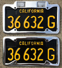 1963 California commercial truck license plate pair YOM DMV clear sticker Ford