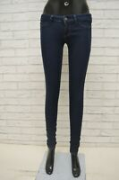 Jeans Donna HOLLISTER Taglia W24 L31 Slim Leggins Fit Elastico Pantalone Skinny