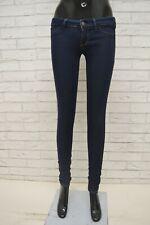 Hüfthose Pantaloni Jeans da Donna Alto Jeans federale jeans a sigaretta Jeans ARGENTO STRETCH 34-42