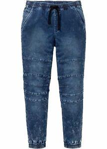 Slim Fit Thermo-Schlupf-Sweat-Jeans Straight Gr 52 Blue Herren-Hose Neu R-Ware*