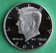 2014 S Proof SILVER Kennedy Half Dollar Coin 50 Cent JFK 50c
