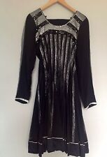 Asian bollywood indian wedding party anarkali suit black size 38 inches RRP £100