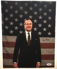 UNITED STATES!!! George H. W. Bush 41st PRESIDENT Signed 11x14 Photo #1 PSA/DNA