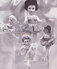 "TUTU for BARBIE & 8"" to 19""  dolls - COPY doll crochet pattern"