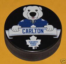 Toronto Maple Leafs Mascot RETIRED Team Logo SOUVENIR PUCK Carlton The Bear