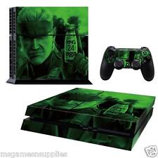 PS4 Playstation 4 Metal Gear Solid Snake Console Skin Decal Sticker 3M QUALITY