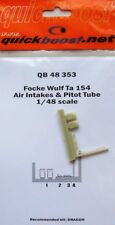 Quickboost 1/48 Focke Wulf Ta 154 Air intakes and pitot tube # 4