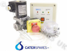 "COMMERCIAL GAS KITCHEN INTERLOCK SYSTEM DEAL KIT WITH 2"" GAS SOLENOID VALVE 54mm"