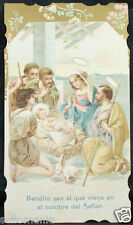 OLD BLESSED SACRED FAMILY HOLY CARD ANDACHTSBILD SANTINI   SEE MY EBAY SHOP C986