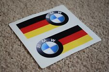 BMW Germany Flag Racing Car Sportscar F1 Race Decal Stickers Logo M4 M5 100mm