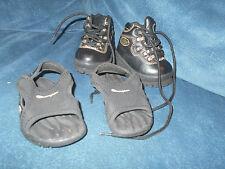 Toddler Black Lugz Boots Size 3 & Champion Sandals Size 4W, Boy, EUC
