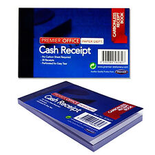 Invoice Receipt Book Cash Carbonless 30 Receipts Perforated