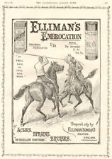 Elliman's embrocation. ADVERT. Jousting 1896 antique ILN full page print